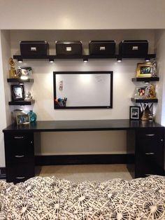 Closet Home Office Ideas . Closet Home Office Ideas . Home Office Space, Home Office Design, Desk Space, Office Designs, Office Style, Ikea Shelves, Corner Shelves, Corner Desk, Bedroom Shelves