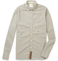 Billy Reid Button-Down Collar Striped Cotton Oxford Shirt | MR PORTER