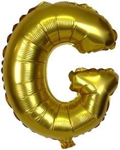 "Custom, Fun & Cool {XXL Massive Huge Size 40"" Inch} 1 Unit of Helium & Air Inflatable Mylar Foil Balloons Celebratory American Alphabet Large Capital Letter G w/ Metallic Design [in Gold Color]"