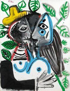 1969 Pablo Picasso, COUPLE, LE BAISER