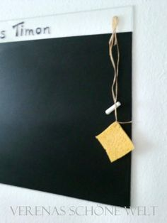 An easy made chalkboard.