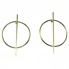 Women's Wire Stick Over Circle Post Ear