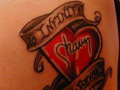 Tattoo to infinity and beyond; this is me & my husbands saying <3