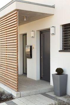333 × 500 Pixel – # Decke – Deko Vor Der Haustür Ideen – Keep up with the times. Modern Architecture House, Modern House Design, Architecture Design, Facade House, House Facades, House Cladding, House Exteriors, House Entrance, Ceiling Decor