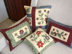 Applique pillows