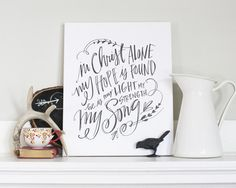 Christ Alone Canvas - Lindsay Letters website full of awesome canvases.  {The nester recommendation}