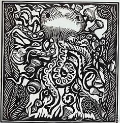 """Pictures of  Raoul Dufy """"Le Poulpe"""" Limited Edition Woodcut"""