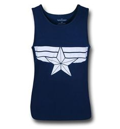 Captain America Winter Soldier Navy Tank Top