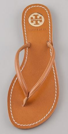 Tory Burch leather flip flops