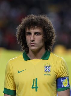 """David Luiz of Brazil with the """"Valderrama Forever"""". 