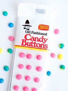 """""""Old Fashioned Candy Buttons"""".Ah, I remember these! 80s Candy, Retro Candy, Vintage Candy, Vintage Toys, Vintage Stuff, Bulk Candy, Vintage Holiday, Great Memories, Childhood Memories"""