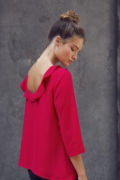 Blouse Adèle rose