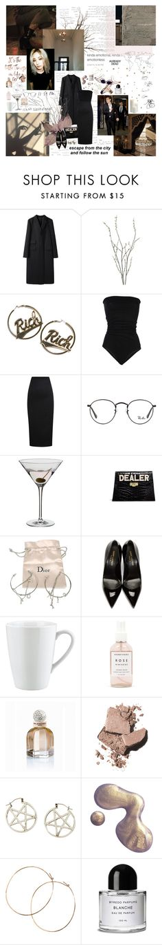 """They wanna see us fallin' apart."" by neusex ❤ liked on Polyvore featuring Margaret Howell, Pier 1 Imports, Joyrich, Laneus, Olympia Le-Tan, BOBBY, Ray-Ban, Dartington Crystal, Mawi and Christian Dior"