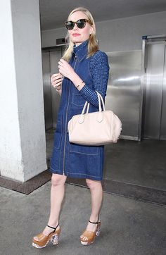 Kate Bosworth's Printed Shoes Are Absolutely Everything via @WhoWhatWear