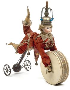 Victorian Harlequin Christmas toy