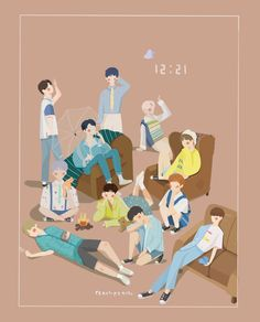 My cutest group ever Kpop Fanart, Kpop Boy, My Sunshine, Abstract Pattern, Pretty Pictures, Cute Wallpapers, Cute Drawings, My Idol, Boy Groups