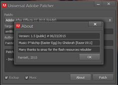 Adobe Universal Patcher 2015 All CC Products Activator Adobe Universal Patcher 2017/2016 is a free software developed by hard working developers. It is used to activate all products of the Adobe Company.