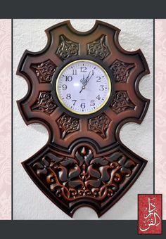 موديل: RC-01 ساعة حائط كلاسيك بحفر زخرفي. 40سم × 40 سم السعر 195ج يمكن توفير مقاسات وألوان حسب الطلب.