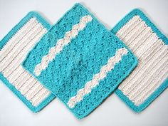 Soft Natural Dish Cloths Wash Cloths  Hand by CozyKitchenKnits, $11.25