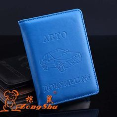 High Quality Russian Auto Driver License Bag PU Leather on Cover for Car Driving Documents Card Credit Holder Purse Wallet Case - Hespirides Gifts - 1