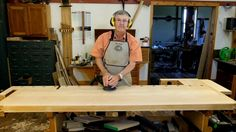 Watch woodworker Ernie Conover refinish his workbench with Waterlox.