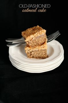 Old Fashioned Oatmeal Cake (gluten-free) www.bestofthislife.com