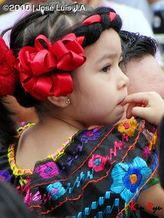 Chiapas  - All children are beautiful but we especially enjoy the Mexican children wearing traditional clothing - for more of Mexico visit www.mainlymexican... #Mexico #Mexican #children #beauty