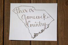 South Carolina Gamecock Country Print by LauraFrancesDesigns, $15.00