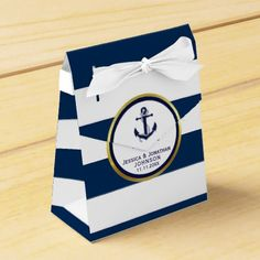 Shop Elegant Nautical Navy Blue White Baby Shower Gift Favor Box created by BabyCreations. Personalize it with photos & text or purchase as is! Wedding Favors And Gifts, Homemade Wedding Favors, Baby Favors, Baby Shower Favors, Baby Shower Parties, Baby Shower Gifts, White Baby Showers, Elegant Baby Shower, Nautical Wedding Favors