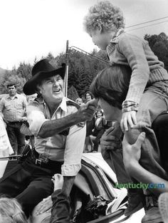 James Best was a veteran of dozens of films & tv shows. Later he even taught acting & had his own production co called,  Best Friends Films. He will be best known for his genius portrayal as Roscoe P. Coltrane.  He passed away 4/ 6/15. He & Sorrell are just as funny now as then. Here he is in Hazard, KY in 1982 greeting his fans. I met him in 2008, he was a nice man & even started talking like Roscoe. He was born in Powderly, KY as Jewel Jules Franklin Guy to Lark & Lena Guy. He's mother…