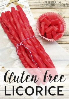 On a gluten free diet but still want to indulge your sweet tooth? Give this yummy gluten free licorice recipe a try. Gluten Free Deserts, Gluten Free Sweets, Gluten Free Diet, Foods With Gluten, Gluten Free Cooking, Gluten Free Recipes, Dairy Free, Lactose Free, Gf Recipes