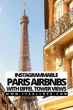 Guide to the best Paris Airbnbs with Eiffel Tower views. Amazing Parisian apartments and studios near the Eiffel Tower and tourist attractions. Tip on budget and luxurious Instagrammable airbnbs in Paris where you can wake up to a morning coffee with Eiffel Towers or have a glass of wine or Champagne as you watch the twinkling Tower light up at night. #Paris #france #cheap| Airbnb Paris France Near Eiffel Tower | Airbnb Paris Apartment With Eiffel Tower Views | Best Airbnb In Paris For…