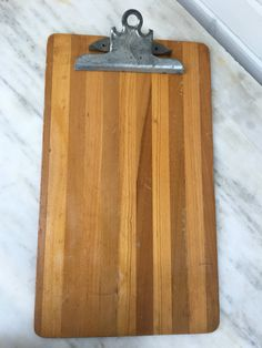 vintage wooden clipboard, legal size clipboard by Alcon, USA butcher block, industrial office supply, by MotherMuse on Etsy