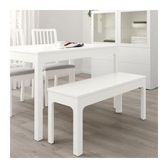 EKEDALEN Bench  Easy to combine with tables and chairs in the same series.  The clear-lacquered surface is easy to wipe clean.