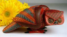 Búho de cerámica Mata-Ortíz, Chihuahua, México.