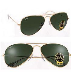 dac5d90b6556e Ray ban verde dourado Rb3025 Frete grátis qualquer lugar do Brasil.
