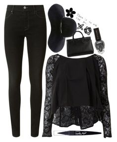 """""""Sunday Morning Church"""" by weirdestgirlever ❤ liked on Polyvore featuring Agent Provocateur, J Brand, House of Deréon, Eugenia Kim, Maybelline, Yves Saint Laurent and Topshop"""