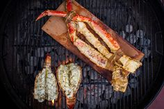 Grilled Lobster Tail & Planked King Crab Legs