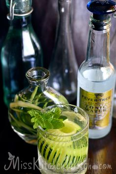 The Three Broomsticks Cucumber and Gin Gillywater - Harry Potter Recipes via http://MissKitchenWitch.com