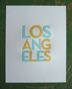 Los Angeles Letterpress