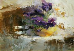 Tibor Nagy - Violets- Oil - Painting entry - June 2014 | BoldBrush Painting Competition