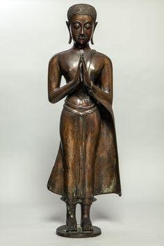 Ganesh, Standing Buddha Statue, Art Thai, Bagan, Asian Art, Buddhism, 18th Century, Zen, Sculptures
