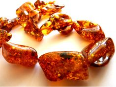 Baltic Amber Chunky Necklace Cognac Whisky 22 inch. $320.00, via Etsy.