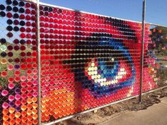 Image result for chain link fence art