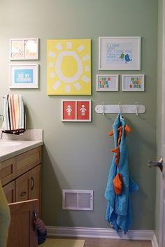 Sassy Times: bathroom. kids decor
