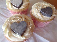 Chocolate Heart Vanilla Cupcakes