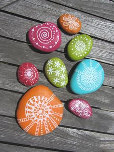 Nicely painted rocks.
