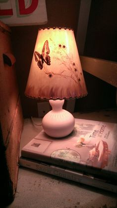 Van briggle lamp and shade