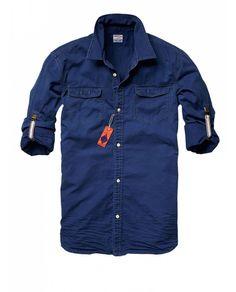 Short-sleeve worker shirt - Shirts - Official Scotch & Soda Online Fashion & Apparel Shops