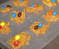 Bird Nest Cookies - Delicious cookies for Easter or Spring; easy enough for preschoolers to make with a little assistance  ABCJesusLovesMe.com